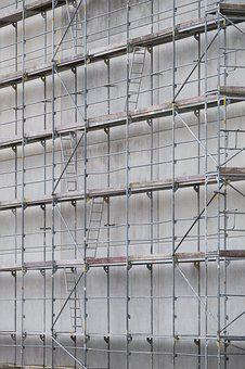 Scaffold, Scaffolding, Site, Build, Construction
