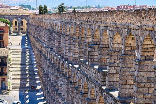 Spain, Segovia, Aqueduct, Building, Historically