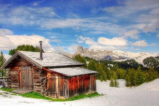Dolomites, Mountains, Snow, Italy, South Tyrol, Alpine