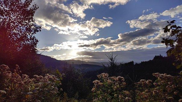Sun, Landscape, Twilight, Nature, Sunset, Idyllic