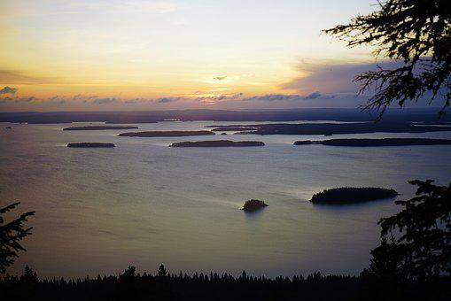 Lake, Sunrise, Finnish, Koli