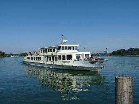 Chiemsee, Shipping, Ship, Boot, Bavaria, Lake, Tourism