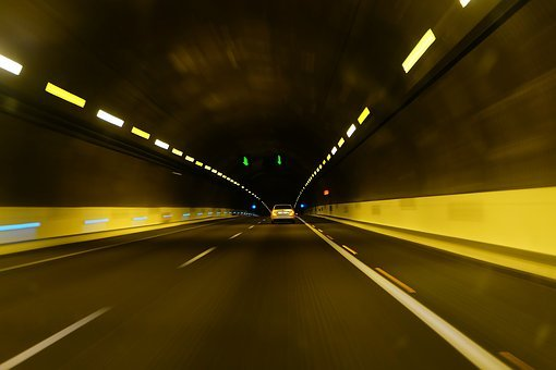 Tunel, Car, Speed, Movement, Transportation, Road