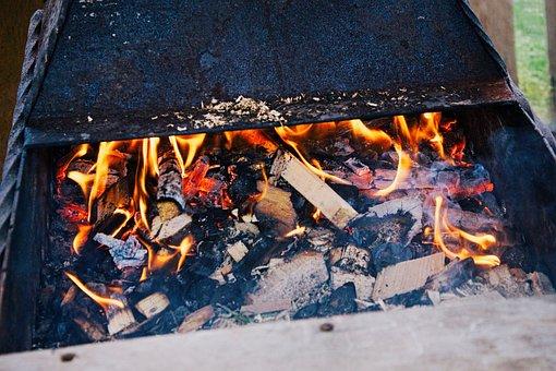 Shish Kebab, Mangal, Summer, Vacation, Bbq, Coal, Flame