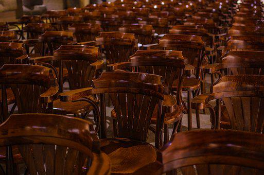 Chairs, Acoustic, Brown, Museum, Old, Wood, Aesthetics