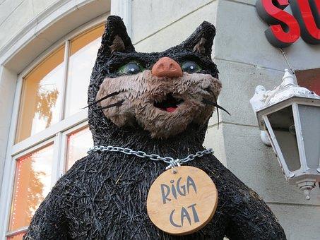 Cat, Riga, Baby Doll, Souvenir, Showplace, The Riga Cat