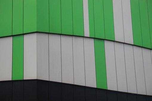 Detail, Architecture, Green, Texture, Building, Design