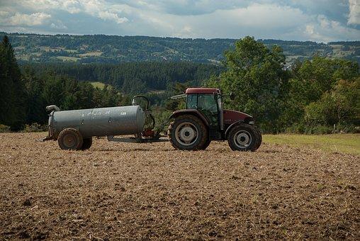 Lozère, Tractor, Tank, Farmer