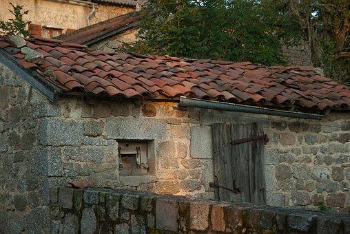 Lozère, Old House, Tiles, Granite