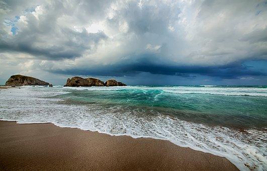 Ağva, Beach, Cloud, Green, Blue, Sky, Bright, See, Sand