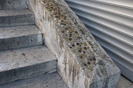 Stairs, Money, Istanbul, Turkey, On
