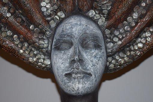Face, Statue, Salt, Sculpture, Women, Monument, Girl