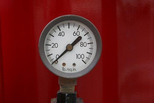 Pressure, Gauge, Mechanical, Industrial, Instrument