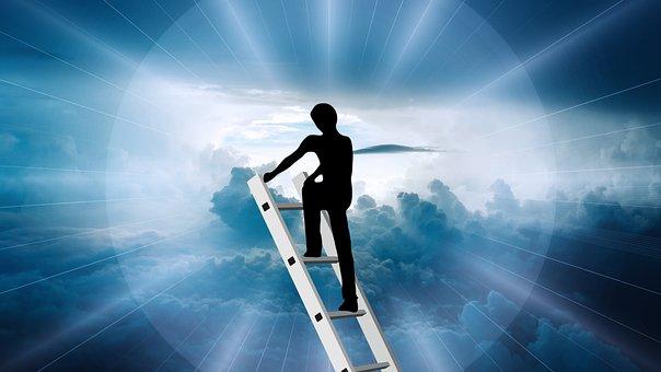 Head, Success, Beyond, Clouds, Sky, God, Religion, Rays
