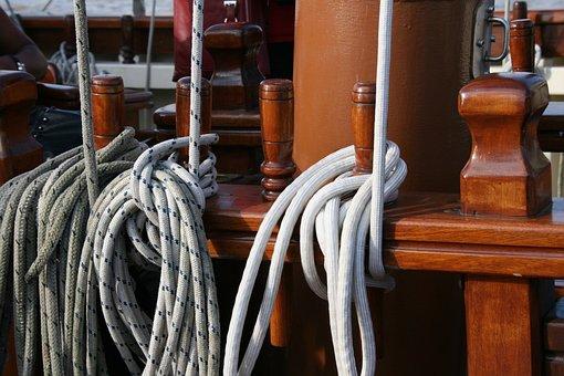 Strings, Boat, Sailboat, Rope, Halyard, Old Rig