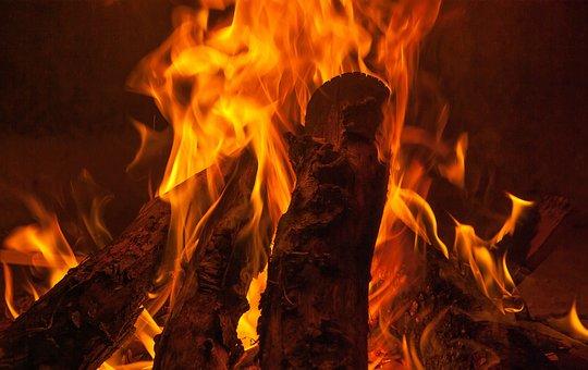 Fire, Fireplace, Wood, Heating