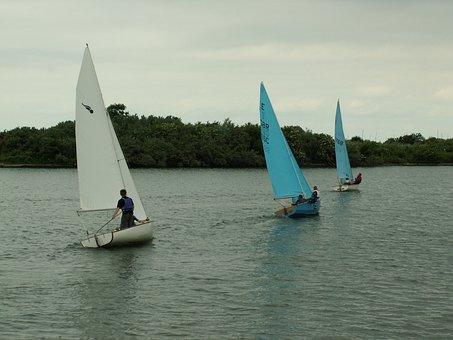 Yachts, Lake, Sailboat, Sail