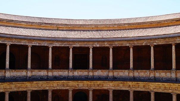 Spain, Andalusia, Granada, Palace, Columns, History