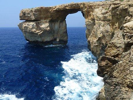 Azure Window, Malta, Azure, Water, Gozo, Sea, Window