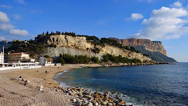 Cap Canaille, Cassis, France, Cliffs, Beach, Provence