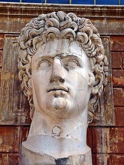 Statue, Head, Rome, Face, Portrait, Sculpture, Antique
