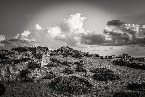 Cyprus, Paphos, Tombs Of The Kings, Landscape, Stones