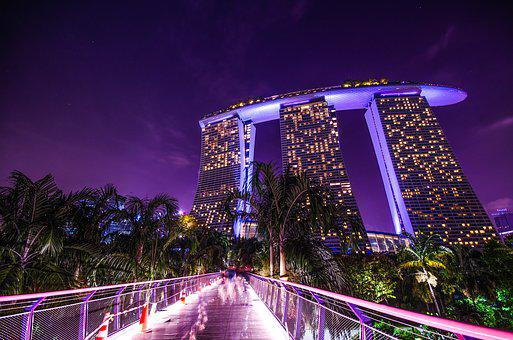 Marina Bay Of Singapore, Marina Bay Sands, Singapore