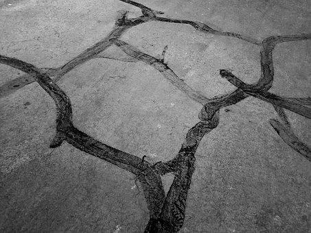 Abstract, Pavement, Lines
