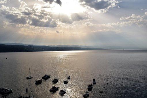 Sea, Sun, Sky, Nature, Clouds, By The Sea, Mood