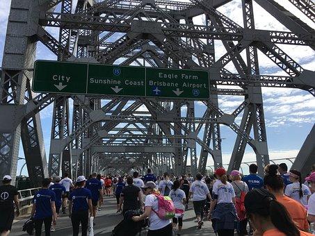 Brisbane, Australia, Story, Bridge, River, City, Travel