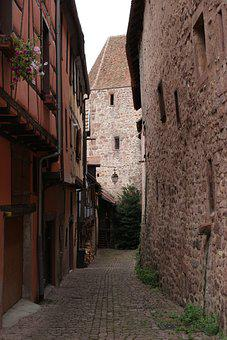 Medieval, Town, Walls, Alsace France, Historic, Old