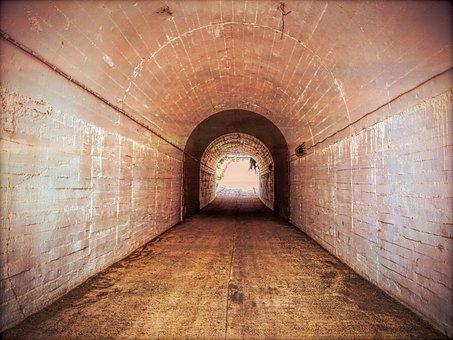 Tunnel, Long, Dark, Architecture, Urban, Underground