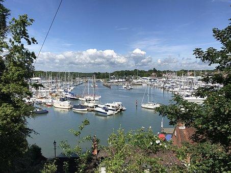 Bursledon, Marina, Boats, England, Hampshire, Uk, Yacht