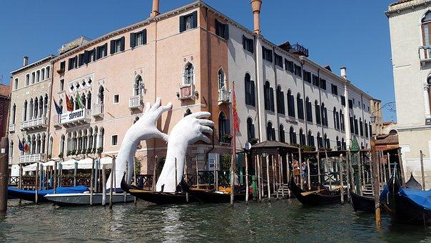 Venice, Water, Adriatic Sea, Italy, Channel, Masonry