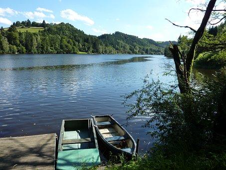 Lake, Nature, Boat