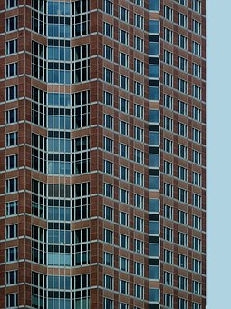 Skyscraper, Window, Frankfurt, Building, Facade