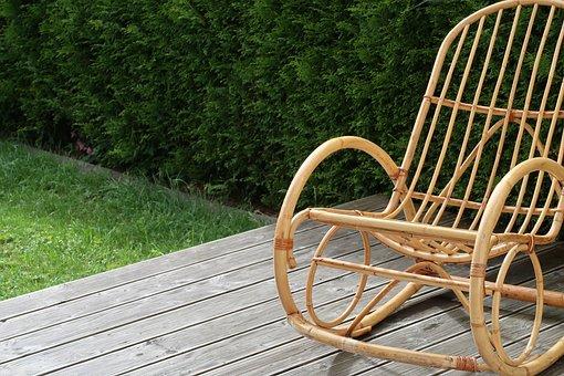 Rocking Chair, Chair, Terrace, Balcony, Garden, Seat