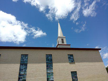 Church, Steeple, Brick