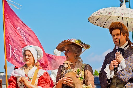 Costume, Baroque, Clothing, Lady, Panel, Noble