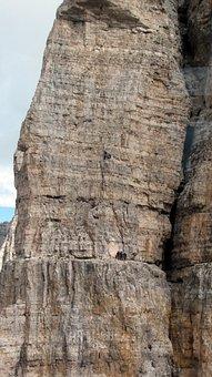 Dolomites, Climb, Climber, Dangerous, Steep, Mountains