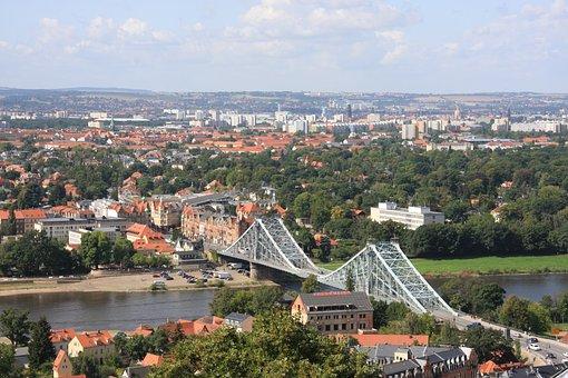 Dresden, Bridge, Saxony, Elbe, River, Capital, City