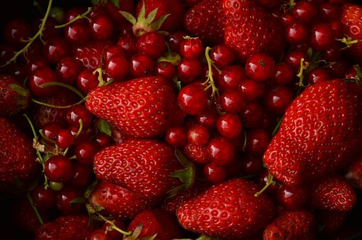 Red Berries, Strawberry, Red Strawberry, Fruit, Currant