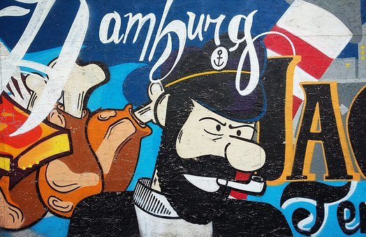 Hamburg, Germany, Murals, Drawing, Painting, Spray