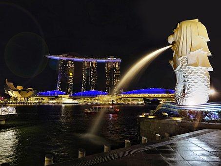 Singapore River, Merlion, Icon, Marina Bay Sand