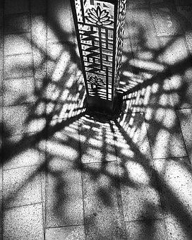 Lamp Post, Small, Shadow, Light, Design