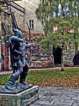 Robin Hood, Statue, England, Nottingham, Robin, Hood