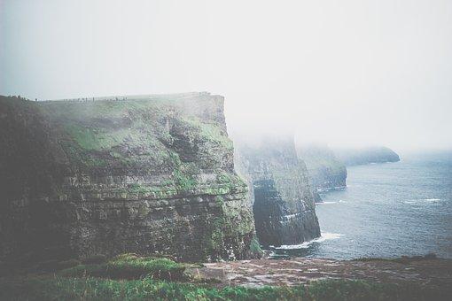 Cliffs, The Cliffs Of Moher, Journey, Ireland, Nature