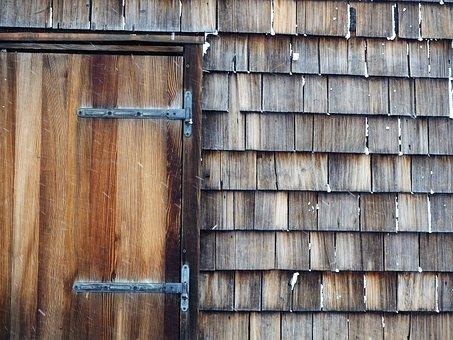 Door, Hut, Old, Garden Shed, Cottage Door, Holiday