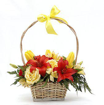 Flowers, Basket, Flower Basket, Bouquet, Floral, Color