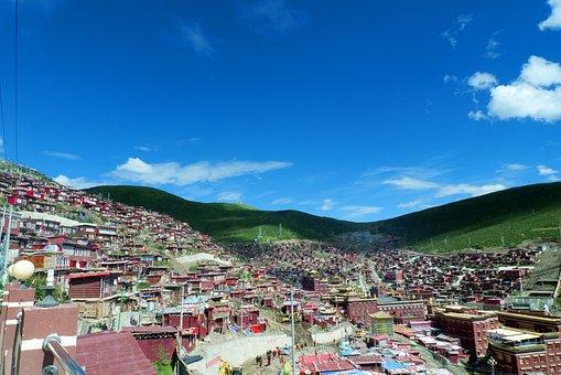 Seda, Buddhist Institute, Blue Sky